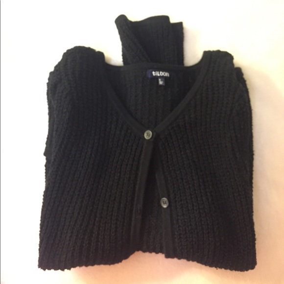 63% off Tildon Sweaters - Tildon black button up cardigan sweater ...