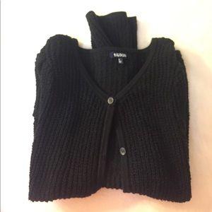 Tildon black button up cardigan sweater