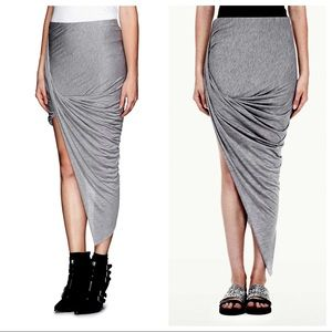 d4178af328 Helmut Lang Skirts - Helmut Lang Kinetic Jersey Asymmetrical Wrap Skirt