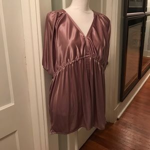 BCBG blousy tunic, mauve to rose color