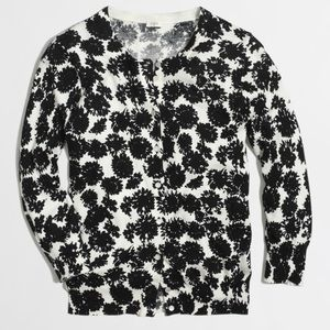 JCREW Factory Clare Cardigan Ink Sunflower