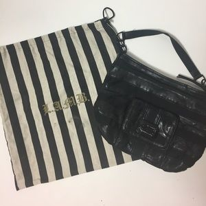 L.A.M.B. Handbag with Leather Detail