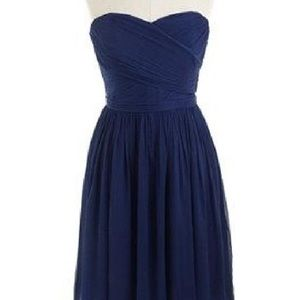 J.Crew Arabella short navy silk chiffon dress