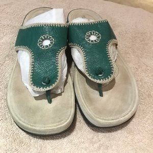 Rock port Sandals teal/green leather Sz 11m