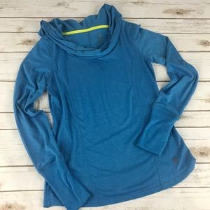 Balance Collection Heather Blue Long Sleeve Top