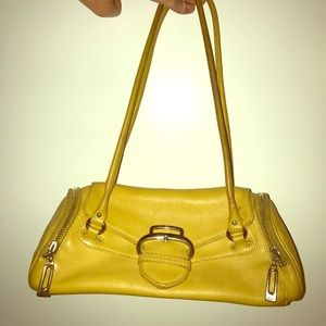 Cole Haan Yellow Leather Satchel
