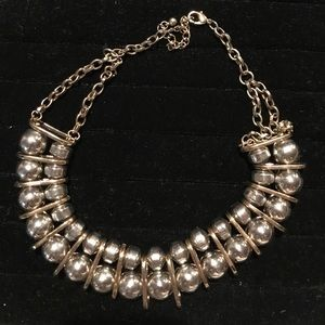 Jewelry - Silver and gold statement necklace!