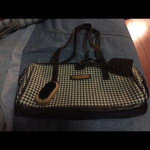 Handbags - Plaid brown & white bag