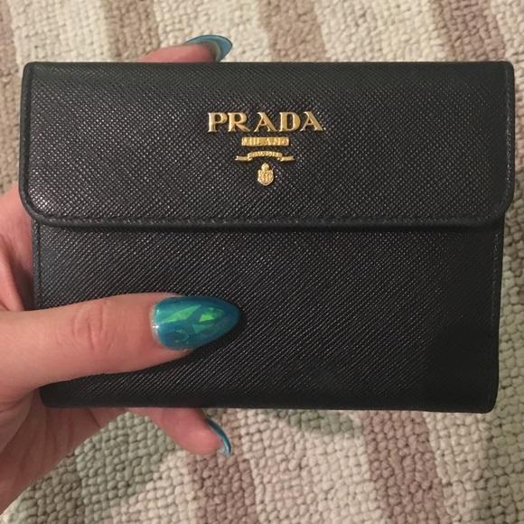 Prada Bags - Prada Saffiano Portafoglio Portamon Metal Wallet