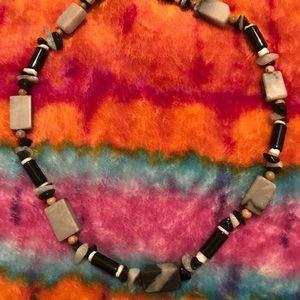 Jewelry - Handmade Stone and bead Necklace