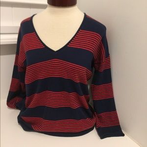 SALE MADEWELL BLUE & PINK STRIPED SWEATER WOOL