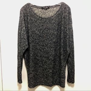 Black and grey heather sweater by Forever 21