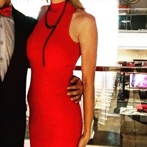Red Bar III midi dress