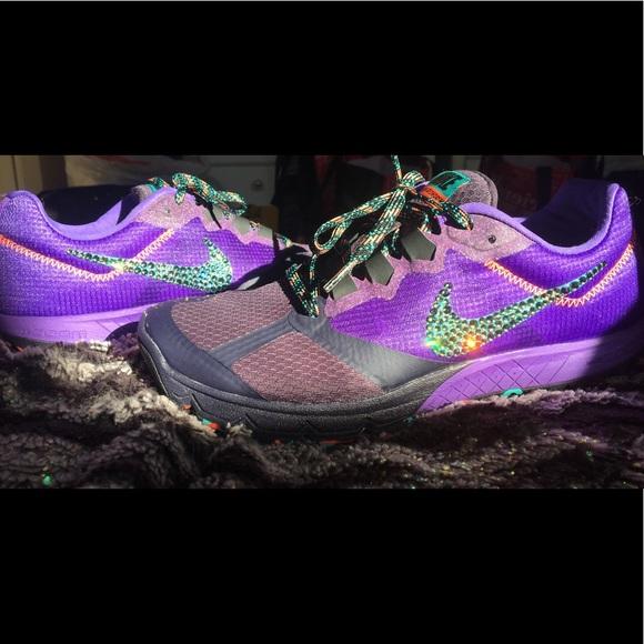 34e205cc3f79 SWAROVSKI crystal Nike Womens Size 8 Running Shoes