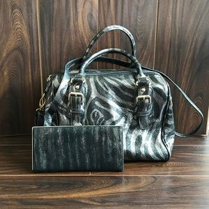 ‼️LODIS Leather Tiger Stripe Bag & Wallet Bundle‼️