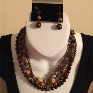 Jewelry - Beautiful Brown Leopard  Necklace set