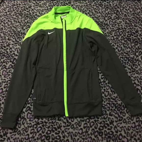 Nike Jacket Grey and Neon Green