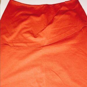 Cabi Overlay Pencil Skirt Tumeric Size 10