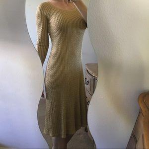 ✨Ralph Lauren Gold Cable Knit Sweater Dress✨