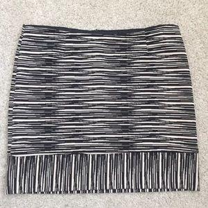 Trina Turk Skirt Abstract Stripe Lined Short Mini