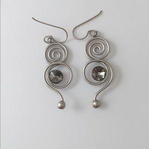 Jewelry - Silver spiral shaped earrings