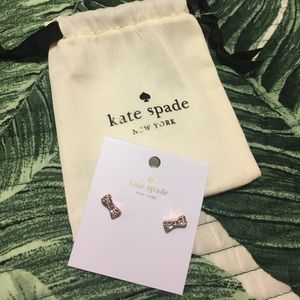 kate spade Jewelry - Kate Spade Bow Earrings with Jewelry Bag