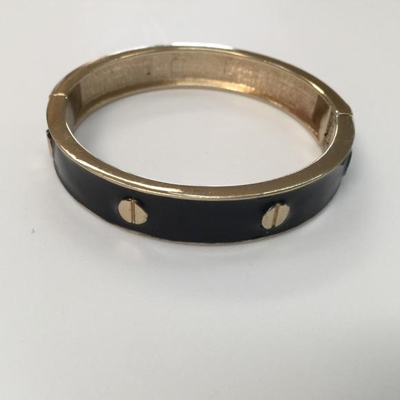 Jewelry - Black and gold hinge bracelet
