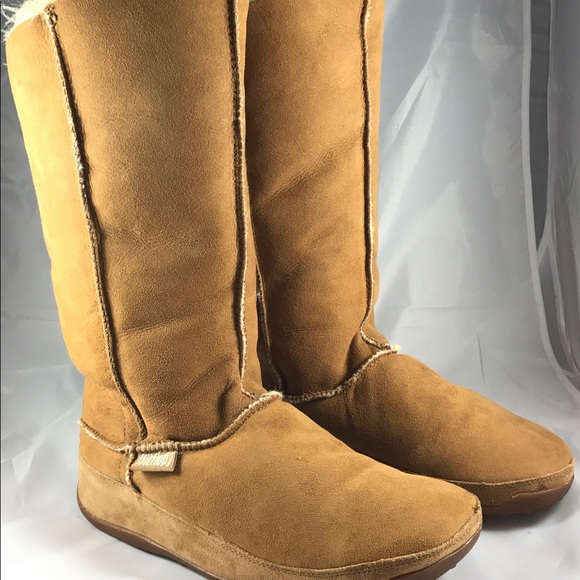 f8948be5797ff Fitflop Shoes - Fit Flop Mukluk Tall Chestnut Suede Boot SZ 11