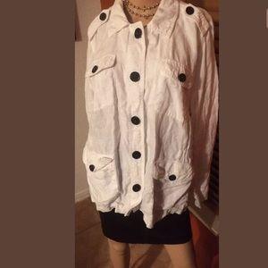 Relativity lightweight thin Jacket 1X 100% Linen