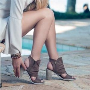 Chic Cut Out Slingback Heel Bootie