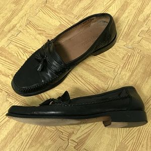Nordstrom Made in Italy Mens Black Slip-on Loafers