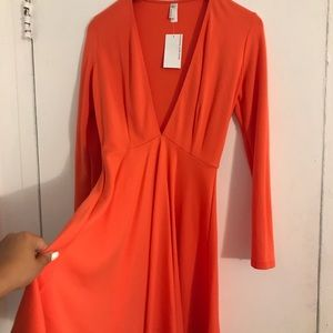 American apparel, sleeved deep V racer dress. NWT