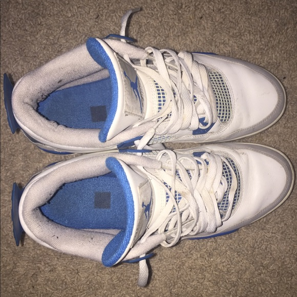 Air Jordan Shoes - Jordan 4 Military Blue's