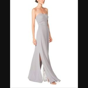 Joanna August Dresses - Joanna August strapless gray chiffon gown