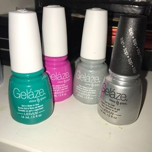 Geláze gel polish lot. W top coat unused, led/uv