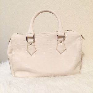 Just Fab white tote bag