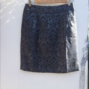 Ann Taylor skirt size 0 grey and black