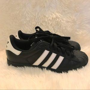 adidas Shoes - ADIDAS SUPERSTAR men's black & white stripe shoes