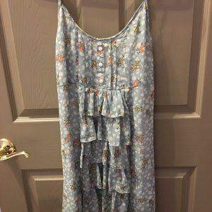 NWT Millau Floral Dress With Handkerchief Bottom