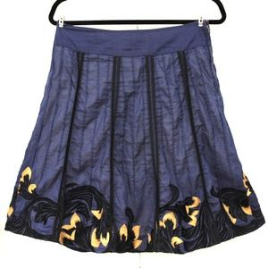 ANTHROPOLOGIE Navi Blue Skirt