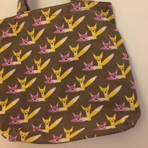 Bungalow 360 Bags - Bungalow 360 Vegan Fox Print Tote Bag