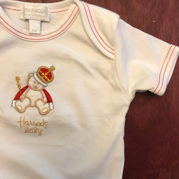 Harrod's Other - Harrod's baby bear Christmas onesie