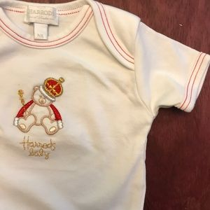 Harrod's One Pieces - Harrod's baby bear Christmas onesie