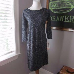 Gray 3/4 Sleeve Maternity T-shirt Dress Md