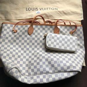 Louis vuitton large azur bag GM size