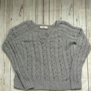 Abercrombie & Fitch Sweater Gray Chunky Knit