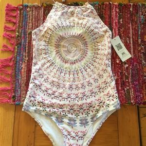 EKOUAER white medallion print one piece!  WS/NWT