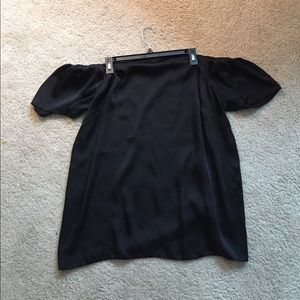 Black off the shoulder top - small fit