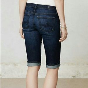 AG anthropologie Malibu Bermuda Shorts - Denim