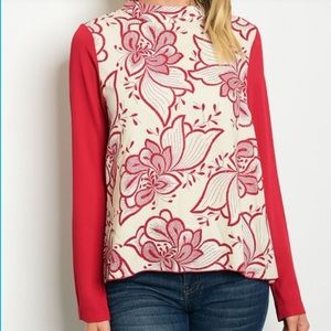 Tops - Wine cream top